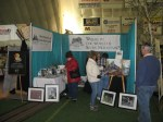 Visitors to the booth, April 2013.